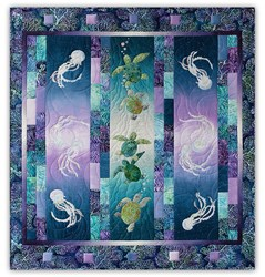 Back in Stock!  High Tide Laser Cut & Pre-Fused Quilt Kit by McKenna Ryan