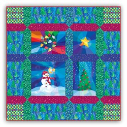 Holiday Lights Lap Size Quilt Kit - Includes Backing!