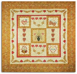 Homespun Hearts Applique Pattern<br>Patchwork with Busy Fingers
