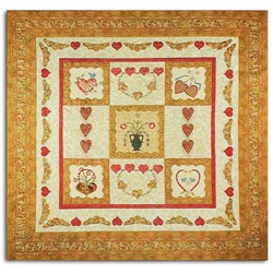 Homespun Hearts Applique PatternPatchwork with Busy Fingers