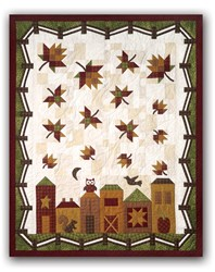 New!  Hometown Harvest Quilt Kit by The Quilt Company <br><i><b>Includes Backing!</i></b>