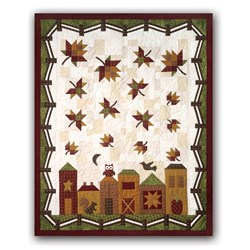 New!  Hometown Harvest Quilt Kit by The Quilt Company Includes Backing!