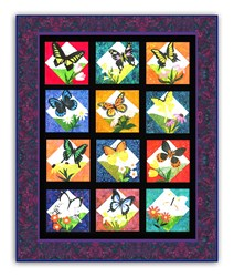 "In Flight - BATIK - Coordinating Backing - Quilt Measures 64"" x 70"""