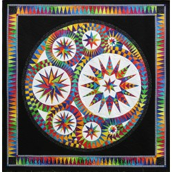 Infinity Batik Paper Foundation Quilt Kit - ******6 Star