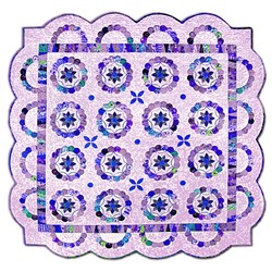 LAST ONE!!  It Takes Two Quilt - Purples, Dark Pinks & Blues - By Sue Daley