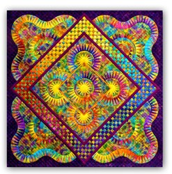 "Joy - In Color - Brilliant Beauties of Joy Block of the Month or All at Once - Large 80"" x 80"" Quilt! - ****4 Star<br>Join Anytime"