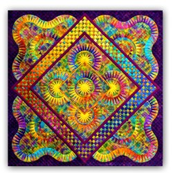 "Joy - In Color - Brilliant Beauties of Joy Block of the Month or All at Once - Large 80"" x 80"" Quilt! - ****4 StarJoin Anytime"