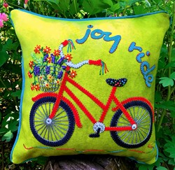New!  Joy Ride Wool Applique Pillow Kit!