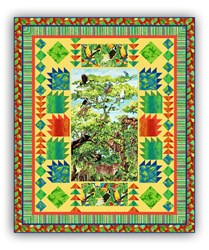 New!  Rainforest Jungle Cruising Quilt Kit - Includes Coordinating Backing!  A Quick & Easy Design!
