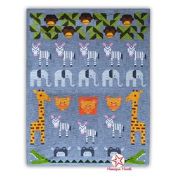 Jungle Friends Sampler Block of the Month or All at Once Start Anytime!