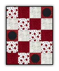 Exclusive!  New Lady Bug Dreams Minky Quilt Kit - <br><i>Includes Backing!</i>