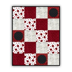Exclusive!  New Lady Bug Dreams Minky Quilt Kit - Includes Backing!