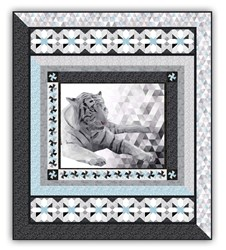 Majestic Snow Tiger's Oasis <br> Exclusive Queen Size Complete Quilt Kit - Ships January!