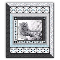 Majestic Snow Tiger's Oasis  Exclusive Queen Size Complete Quilt Kit - Ships January!