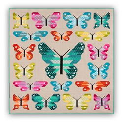 Lepidoptera Butterfly Family Quilt Kit