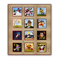 Exclusive - Lil' Woolies Wool Applique Wall Hanging Block of the Month or All at Once