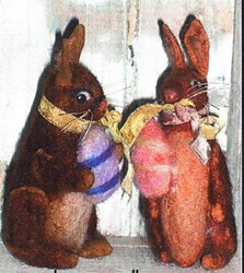 LAST ONE!  Vintage Find!  Little Bunnies Felting Kitby Lowell Country Gifts