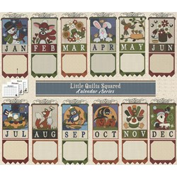 Last One!  Little Quilts Squared  - Flannel Applique on Flannel -Hanging Calendar Series Free US Shipping!