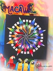Macaw Batik Paper Pieced Quilt Kit - by Judy Niemeyer Designs