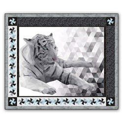 Majestic Snow Tiger Quilt Kit by Northcott