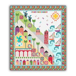 Homespun Hearth's Exclusive - Fun on the Mediterranean!  Dark Border Color-Way