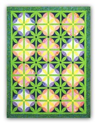 Back in Stock! Melon Blossom Full Size Batik Quilt Kit