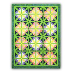 Melon Blossom Full Size Quilt Pattern by Tammy Silvers of Tamarinis