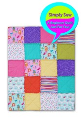 My Favorite Mermaid Quilt Kit - An Exclusive Flannel Snuggler by Homespun Hearth!
