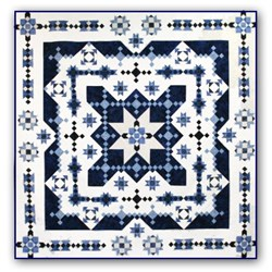 Midwinter Blues Batik Lap Size Quilt Kit