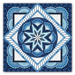 Reserve Yours Now! - Honeycomb -King Size Midnight Awakening Quilt Kit - a Judy Niemeyer Design and Exclusive Homespun Hearth Colorway!