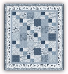 Exclusive!  Misty Mountain Flannel Quilt Kit - Denim- Includes Backing