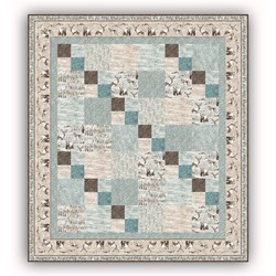 Exclusive!  Misty Mountain Flannel Quilt Kit - Misty Latte Mornings- Includes MINKY Backing