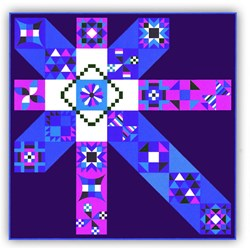 "More Back in Stock!  Moccasin ""Jewels"" Exclusive Quilt Kit plus optional Swarovski Hotfix Crystals"