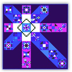 """More Back in Stock!  Moccasin """"Jewels"""" Exclusive Quilt Kit plus optional Swarovski Hotfix Crystals"""
