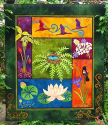 Look What I Found!  - The Nature of Things - Wool Applique Quilt Kit