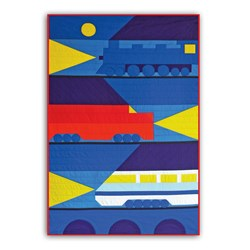 New - Night Trains!  Child Quilt Kit