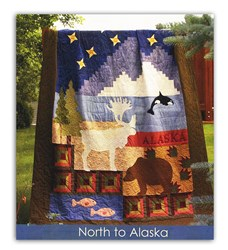 North to Alaska Queen Size All at Once Quilt Kit