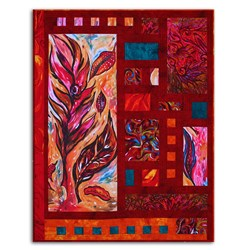 Back In Stock!  Earth, Wind & Fire Quilt Kit by Quirky Girl Quilts- Includes Backing