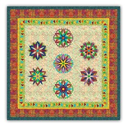 "New!  Exclusive ""Island Stars Sampler"" <br> a  Judy Neimeyer Block of the Month  <br><i>Start Anytime!</i>"