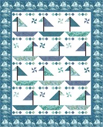 New!  Sailin' Dreaming Afternoon Bayside Blues Quilt Kit