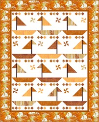 New!  Sailin' Dreaming Sunset by the Bay Quilt Kit