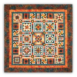 Last One!  Sangria Tonga Batiks  King Sized Quilt Kit - Includes Backing!