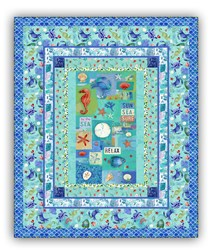 Exclusive Sanibel Seashore Quilt Kit <br> Includes Backing!