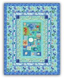 Exclusive Sanibel Seashore Quilt Kit - Includes Backing!
