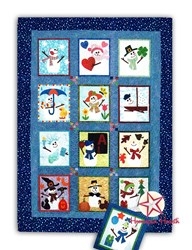Seasonal Snowmen Batik Block of the Month or All at Once<br>Plus Bonus Kit