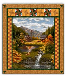 Serene Lakeside Lodge Quilt Kit