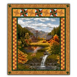 Serene Lakeside Lodge Quilt Kit