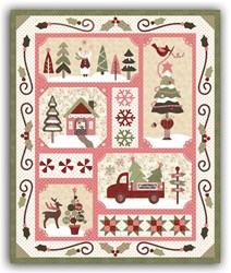 Sew Merry - Pink/Light Version - Block of the Month or All at Once - plus BONUS- by The Quilt Company - Ships Starting in June!