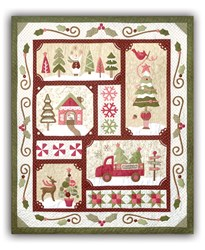 Sew Merry - Red/Dark Version - Block of the Month or All at Once - plus BONUS- by The Quilt Company - Ships Starting in July!