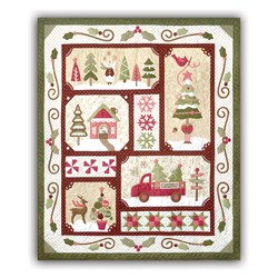 Sew Merry - Red/Dark Version - Block of the Month or All at Once - plus BONUS- by The Quilt Company - Ships Starting in June!